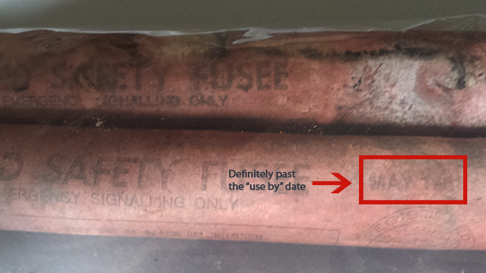 flares showing expiration date